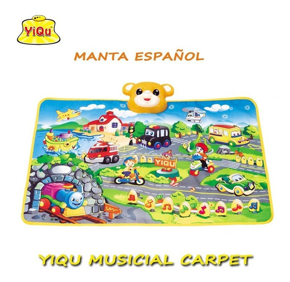 Alfombra Musical Yiqu En Español Para Niños...
