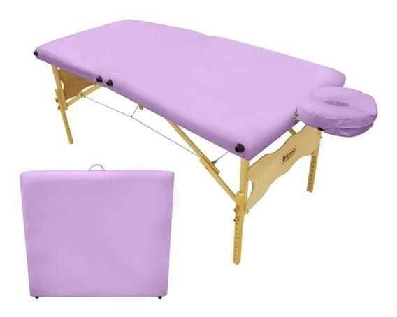 Maca De Massagem Portátil E Altura Regulável Antares Spa