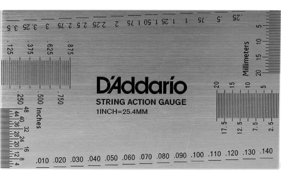 Regla Calibracion Luthier Metalica Daddario Musicapilar