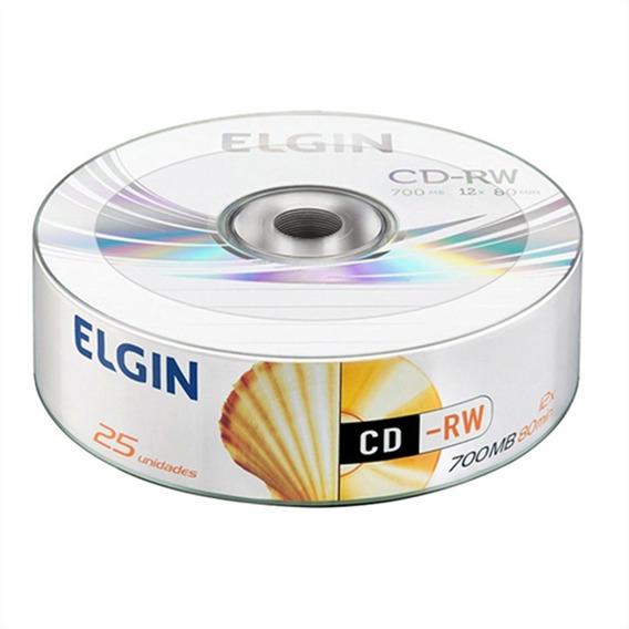 Cd-rw 700mb/80 Min/12 X (tubo Com 25 Unidades) - Elgin