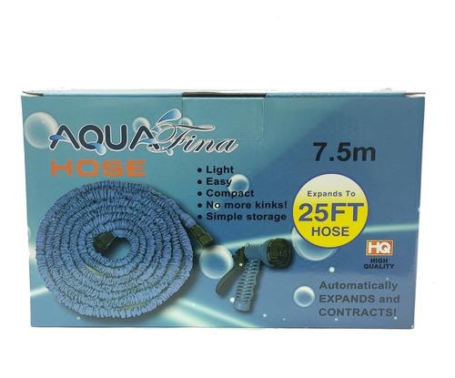 Manguera De Agua Flexible Aquafina 7.5m