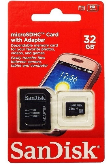 Cartão Memoria P/celular E Tablet 32gb Sandisk Original