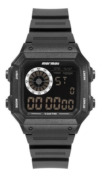 Relógio Mormaii Masculino Digital Quadrado Mo2002jb/8p