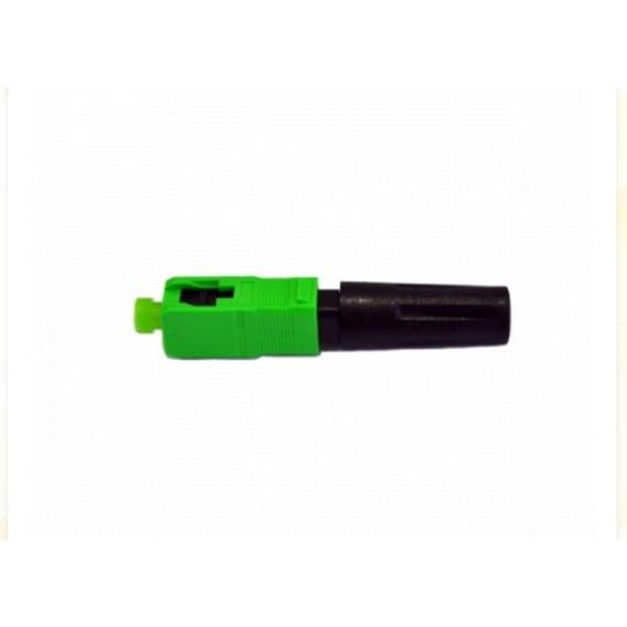 100 Unidades Fast Conector Óptico Ftth Sc Apc Verde