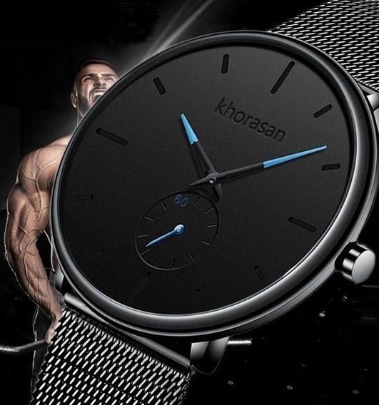 Relógio Masculino Casual Esportivo Luxo Khorasan