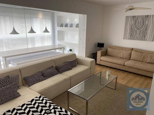 Apartamento Com 3 Dormitórios Para Alugar, 111 M² Por R$ 5.500,00/mês - Ponta Da Praia - Santos/sp - Ap5165