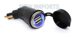 Conector/carregador Duplo Usb Para Motos Bmw, Triumph, Ktm..