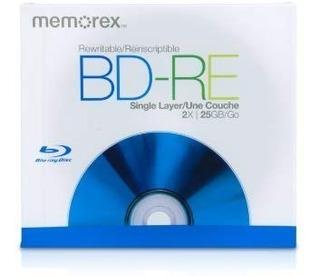 Blu Ray Bd-re 2x 25gb/go Memorex