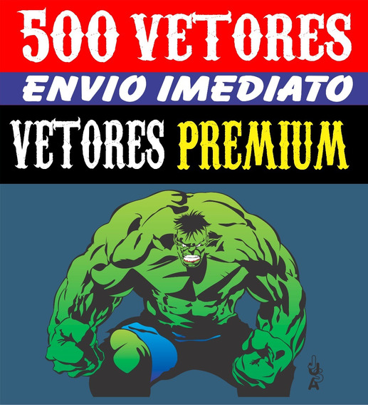 500 Vetores Super Heróis Para Corel - Illustrator Cs.