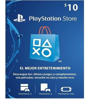 Tarjeta Psn 10 Usd Playstation Gift Card Ps4 Ps3 Disponible