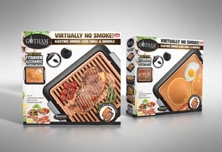 Gotham Smokeless Grill + Plancha - Tevecompras Parrilla