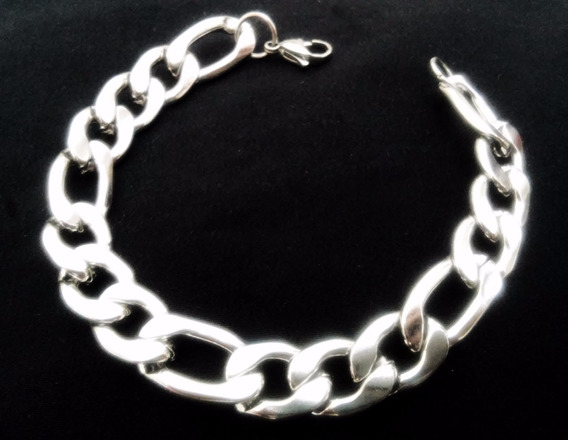 Pulseira Bracelete Masculino Grumet Italiano Aço Inox Prata