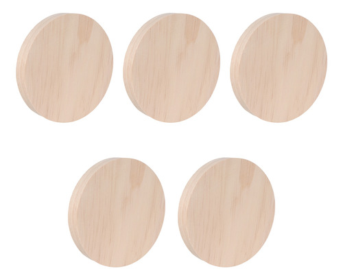 5pcs Prático Ofício Diy Material Placa De Madeira Acessório