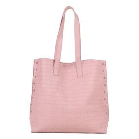 Bolsa Colcci Shopper Croco Tachas Feminina Rosa Original