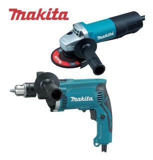 Combo Makita Amoladora 9557hpg+taladro Hp1630 12 Cuotas