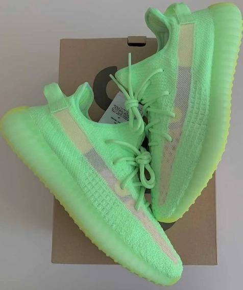 Tênis adidas Yeezy Boost V2 Glow Verde Refletivo V2 350