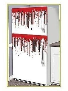 Decoracion Halloween Refrigerador - Sangre Autoadherible
