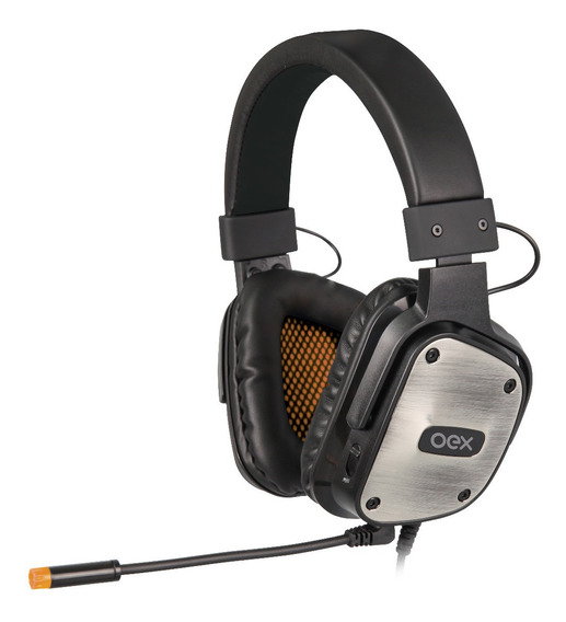 Fone Gamer Headset Armor Usb Preto C/prata Hs403 Oex