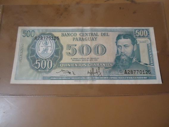 Billete De Paraguay 500 Guaranies 1952