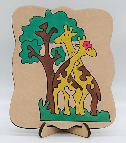 Imagem 1 de 6 de Quebra Cabeça Girafas