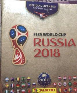Album De Figurinhas Gold Edition Panini Copa 2018
