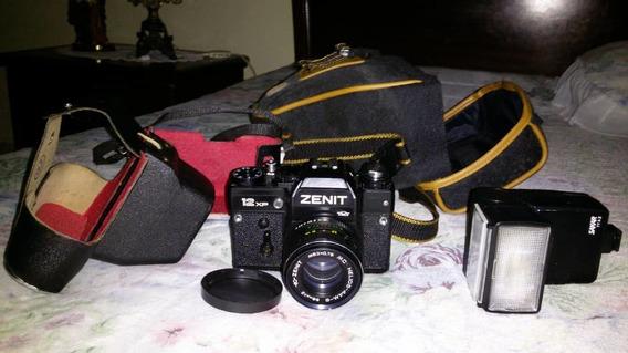Camara Zenit 12xp Colección Con Flash, Estuche, Forro