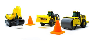 Tonka 3 Pack - Escala Miniatura De Metal.