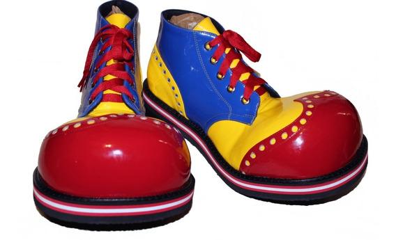 Zapatos De Payaso Profesionales Rojo, Amarillo, Azul