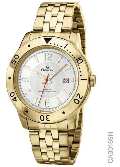 Relógio Masculino Champion Dourado Ca30169h