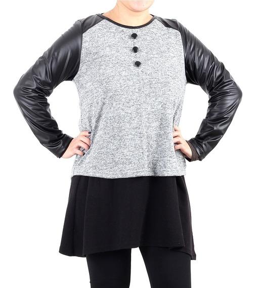 3 Remera Lanilla Manga Larga Mujer Tipo Sweater Pack Mayor.