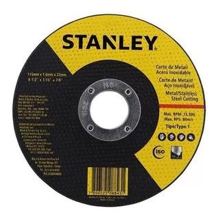 Disco Corte Metais Aço Inox 41/2 115mm Caixa C/ 25 Stanley S