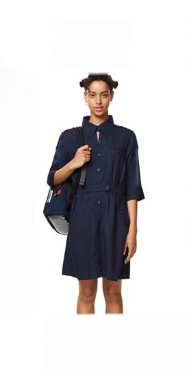 Vestido Desigual Azul Marino Mujer