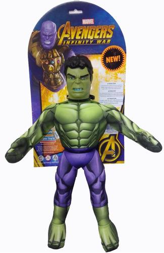 Hulk Muñeco Soft 45cm Vengadores Avengers Peluche 1038 Edu