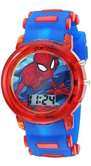 Marvel - Reloj De Cuarzo De Plástico Para Niño, Color: Azul