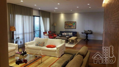 Apartamento Residencial 4 Suítes E 3 Vagas À Venda No Miolo Do Ingá, Niterói. Imóvel Com 440 M² - Ap1101