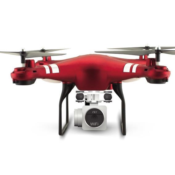 Drone Hr Magic Speed X52hd 5mp 1080p 270º 2 Bateria Vermelho