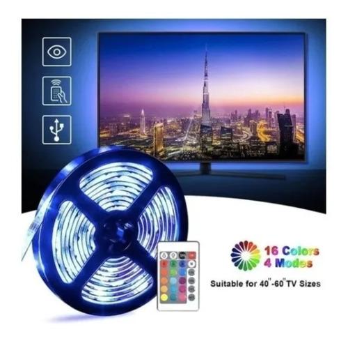 Imagen 1 de 10 de Luces Led 1 Metro Tv/pc + Control Remoto