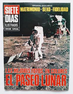 Revista Siete Días 18 De Agosto De 1969 El Paseo Lunar