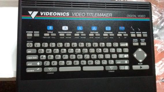 Generador De Caracteres Videonics Mod. Tm-1 Ntsc