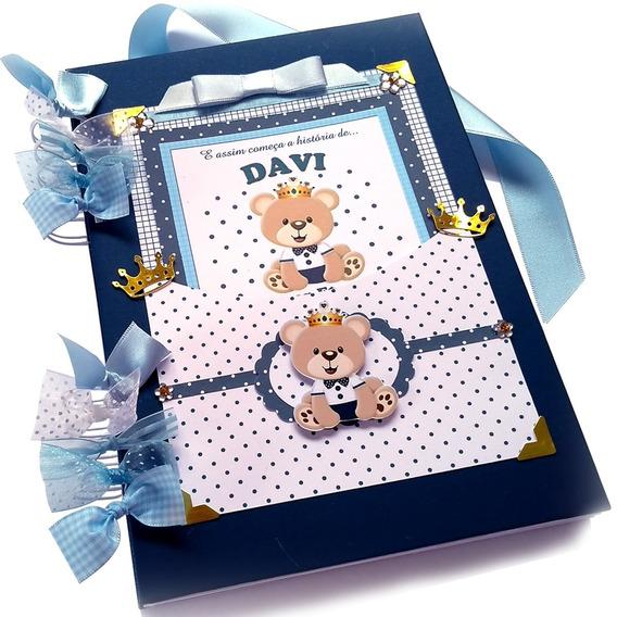 Álbum De Bebê Fotos Urso Príncipe Personalizado Com O Nome
