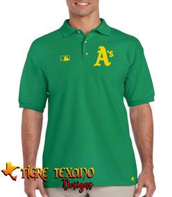 Playera Polo Atléticos Oakland Baseball Tigre Texano Designs