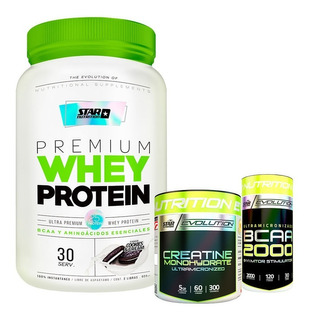 Whey Protein 2 Lb + Creatina 300 + Bcaa 2000 Star Nutrition