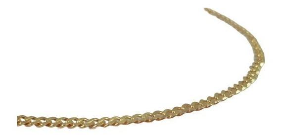 Corrente Cordão Grumet Masculino Maciço 60cm Ouro 18k 3821