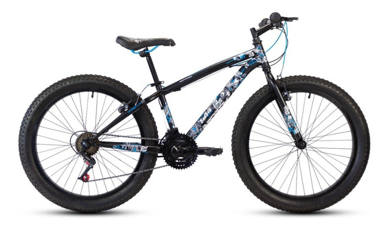 Bicicleta Mercurio Bad Boy Llanta Fat 3.0 Rodada 24 21 Velocidades