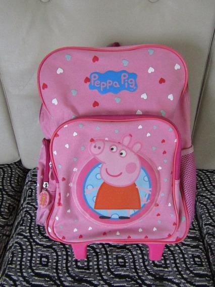 Mochila Peppa Pig 14 C/ Carro Escolar