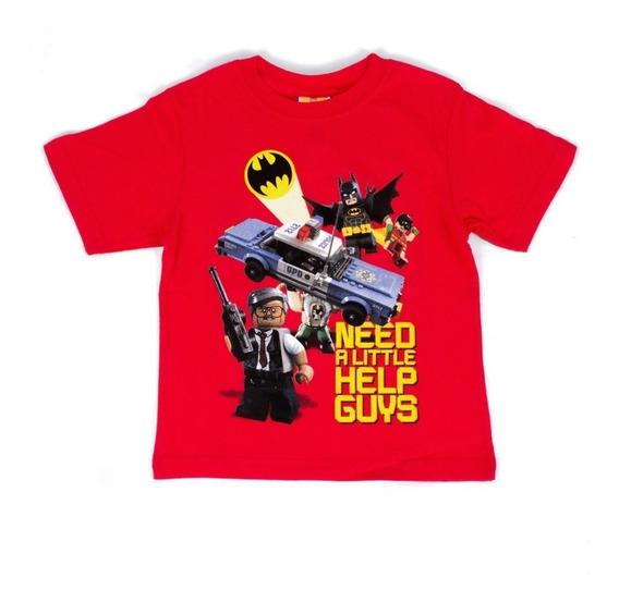 Playera Para Niño Lego Estampado Batman Y Robin Al Rescate