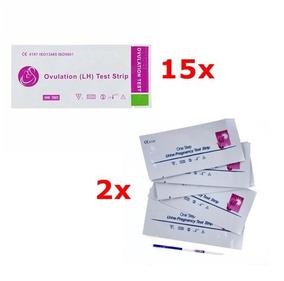 15 Testes De Ovulação + 2 De Gravidez Frete Expresso