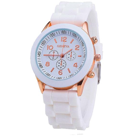 Relógio Feminino Geneva Pulseira Silicone - Varias Cores