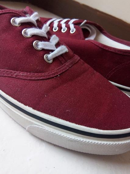 Zapatos H&m Divided Vinotintos Tipo Keds