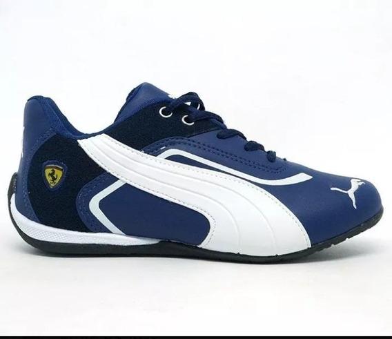 Tenis Masculino Ferrari Scuderia Leve P/treino Corrida Macio